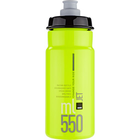 Elite Jet Bidon 550ml, yellow fluo/black logo